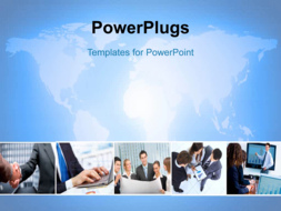 PowerPoint Template - Global business background